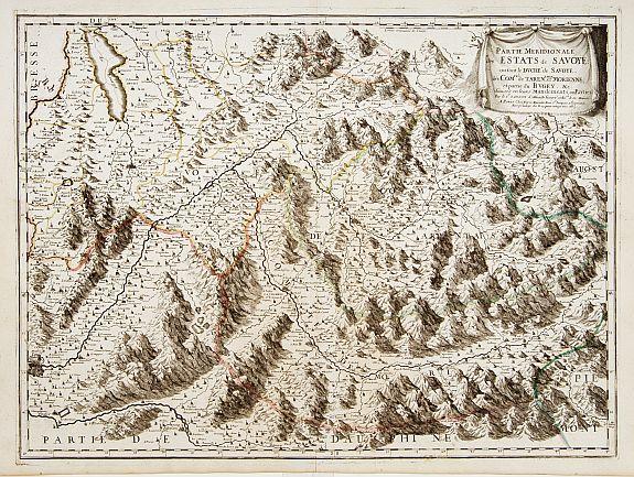 SANSON, N. / MARRIET, P. -  Partie Meridionale des Estats de Savoye ou sont..