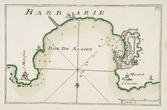 ROUX,J.,  [72] Barbarie., antique map, old maps