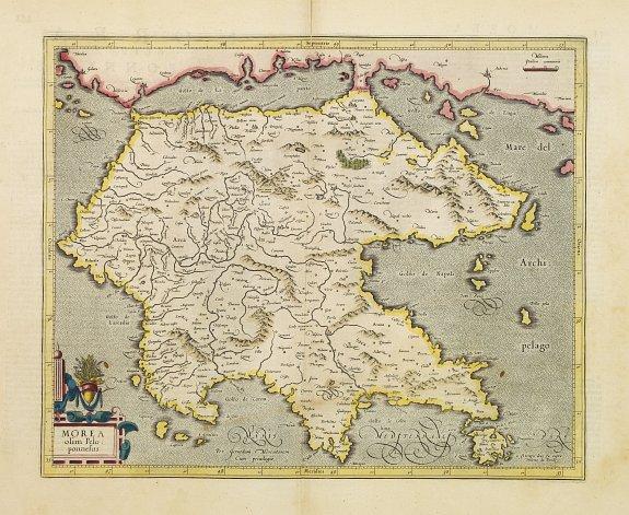 MERCATOR, G. / HONDIUS, J. -  Morea olim Peloponnesus.