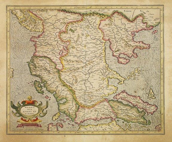 MERCATOR, G. / HONDIUS, J. -  Macedonia Epirus et Achaia.