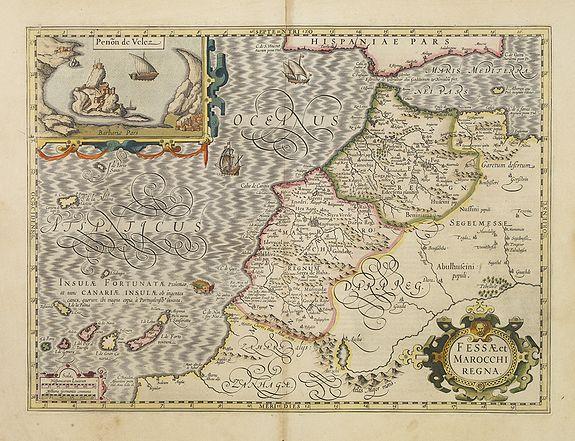 MERCATOR, G./ HONDIUS, J. -  Fessae et Marocchi Regna.