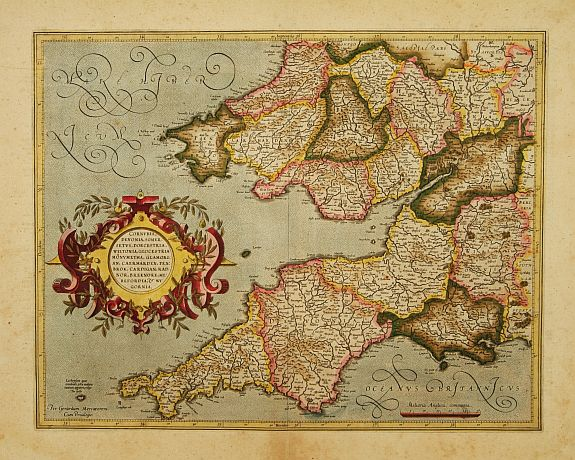 MERCATOR, G. / HONDIUS, J. -  Cornubia, Devonia, Somersetus, . . .