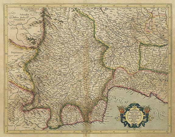MERCATOR, G. / HONDIUS, J. -  Pedemontana Regio cum Genvensium Territorio..