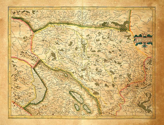 MERCATOR, G. / HONDIUS, J. -  Burgundia Superior.