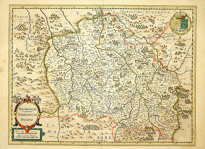 MERCATOR,G. / HONDIUS, J. -  Borbonium Ducatus, Bourbonois.