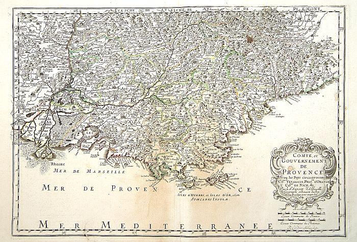 SANSON, N. / MARIETTE, P. -  Comte et Gouvernement de Provence, avec les pays..