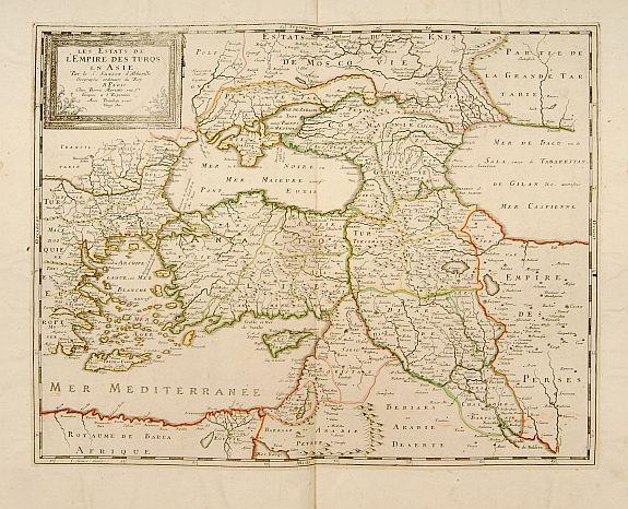 SANSON, N./ MARIETTE, P. -  Les Estats de l'Empire des Turqs en Asie.