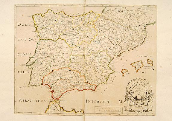 SANSON, N. / MARIETTE, P. -  Hispaniae Antiquae Tabula.