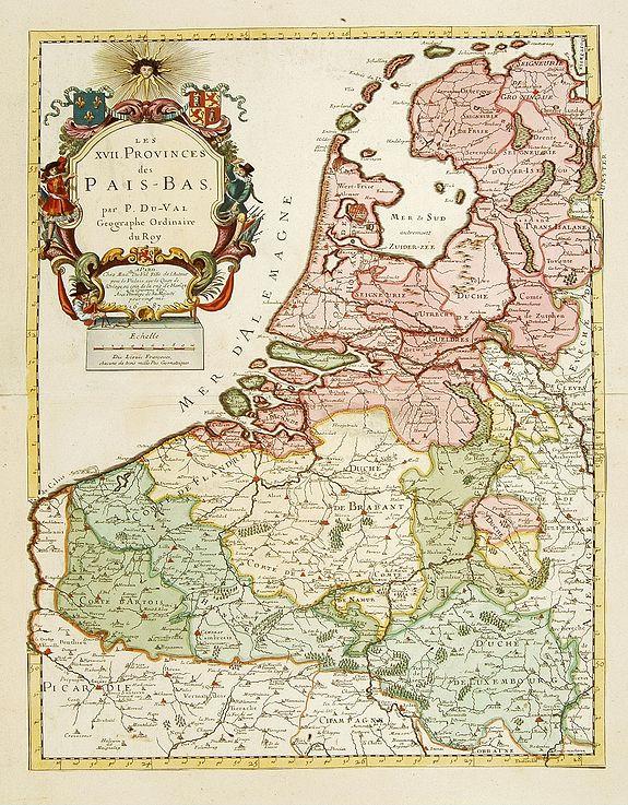 DU VAL,P. -  Les Provinces des Pays Bas.