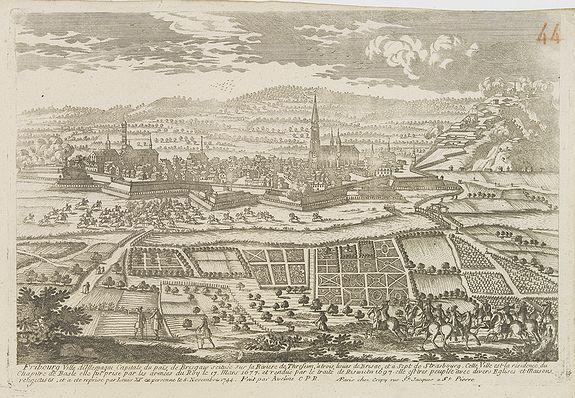 AVELINE, P. / CREPY -  Fribourg Ville d'Allemagne Capitale du païs de Brisgaw.