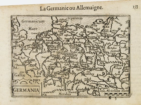 LANGENES, B.,  Germania., antique map, old maps