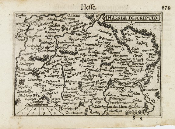LANGENES,B. -  Hassiae Descriptio / Hesse.