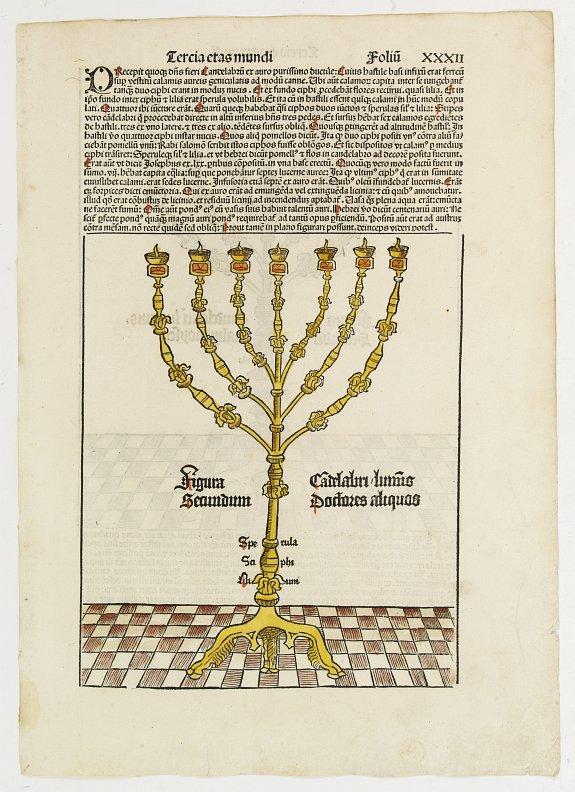 SCHEDEL, H. - Tercia Etas Mundi. Candelabri Luminus. Folio XXXII