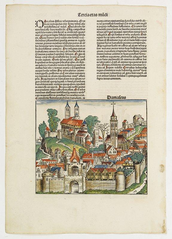 SCHEDEL, H. -  Tercia Etas Mundi. Damascus.  / Folio. XXIII