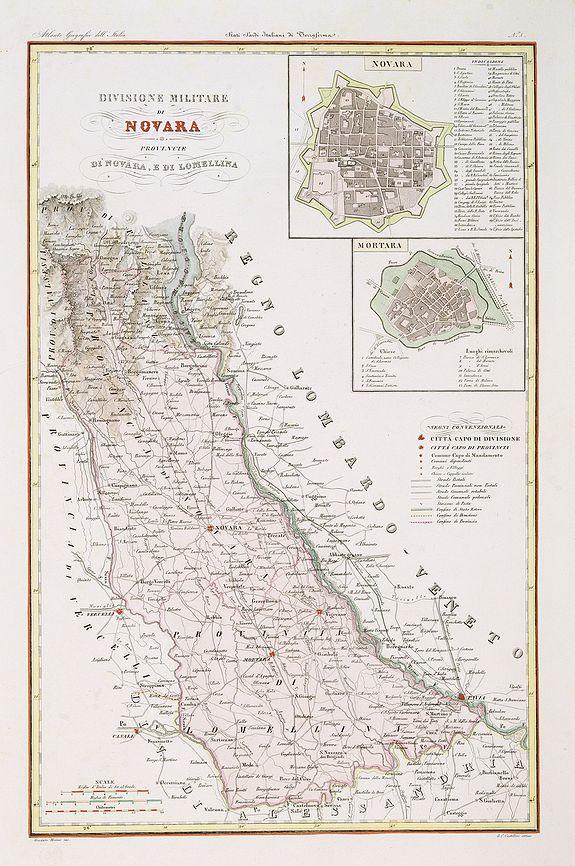 STANGHI,V. -  Divisione Militare di Novara. Novara / Lomellina.