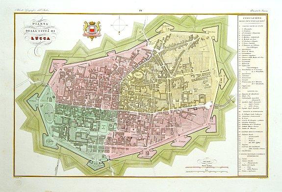 STANGHI, V. -  Pianta della citta di Lucca.
