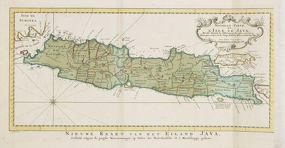 HARREVELT, E. van / CHANGUION, D. J. -  Nouvelle carte de l'Isle de Java.