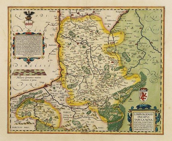 ORTELIUS, A. / VRIENTS, J.B. -  Limburgensis Ducatus Tabula Nova.