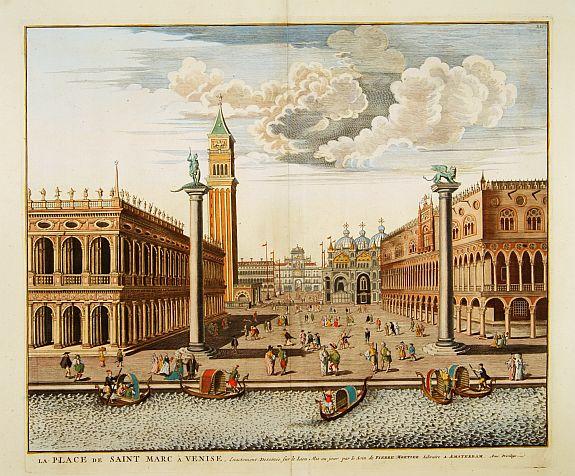 BLAEU,J./ MORTIER,P. -  La Place de Saint Marc a Venise.