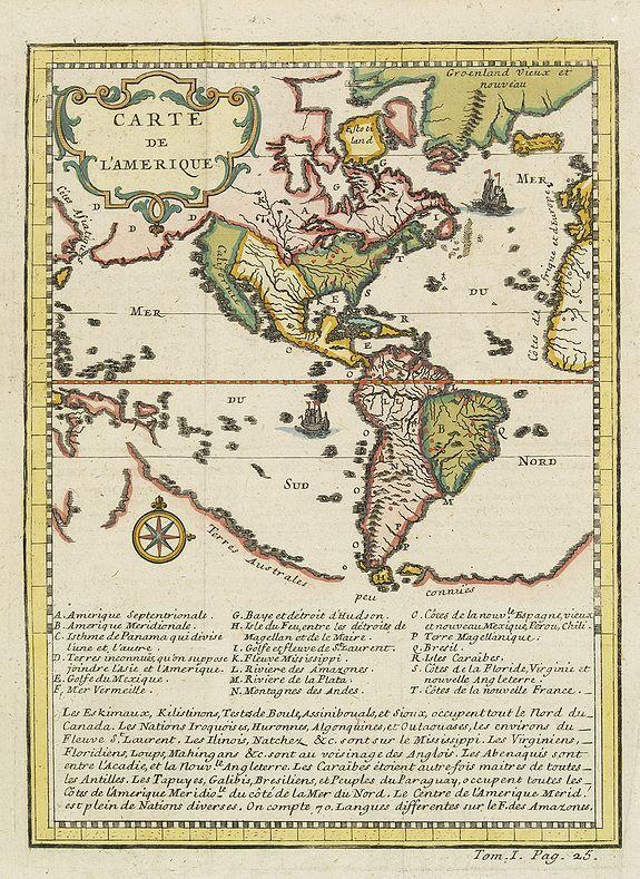 ANONYMOUS -  Carte de l'Amerique.