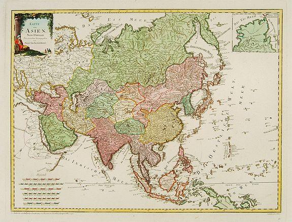 VON REILLY, F.J.J. -  Karte von Asien.