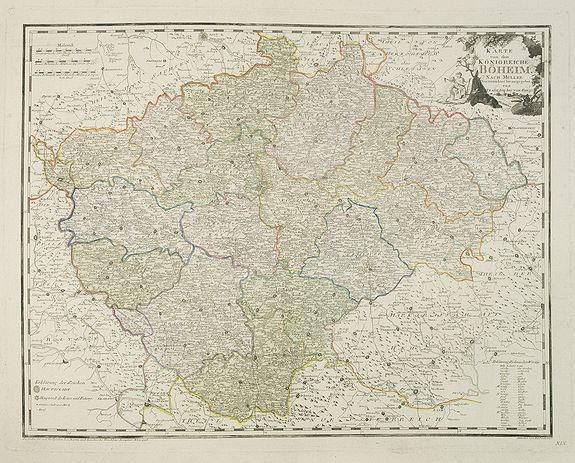 VON REILLY, F.J.J. -  Karte von dem Konigreiche Boheim.