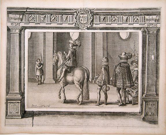 PLUVINEL, A.de -  Figure 27 deuxieme partie a gauche.. [Hors riding].