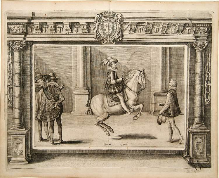 PLUVINEL, A.de -  Figure 28 deuxieme partie. [Hors riding]