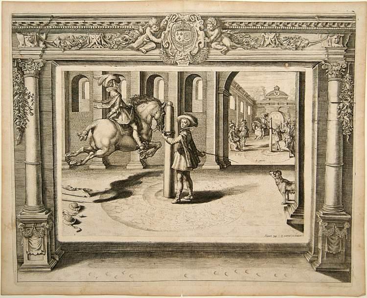 PLUVINEL, A.de -  Figure 34 troisieme partie a droite. [Hors riding]