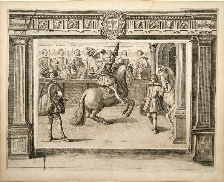 PLUVINEL, A.de -  Figure 40 deuxieme partie. [Hors riding]