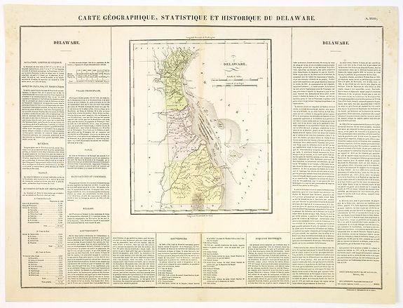 BUCHON, J.A. -  Carte Géographique .. Delaware.