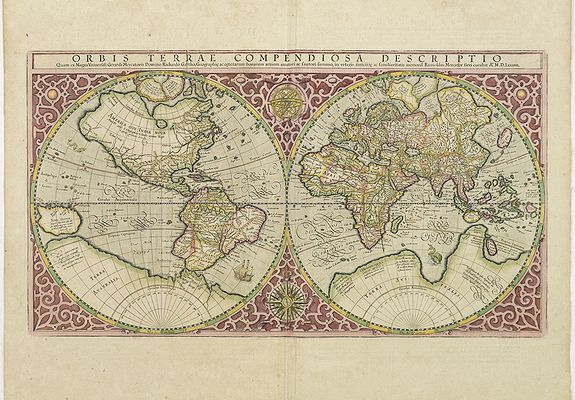 MERCATOR, R. -  Orbis Terrae Compendiosa Descriptio.