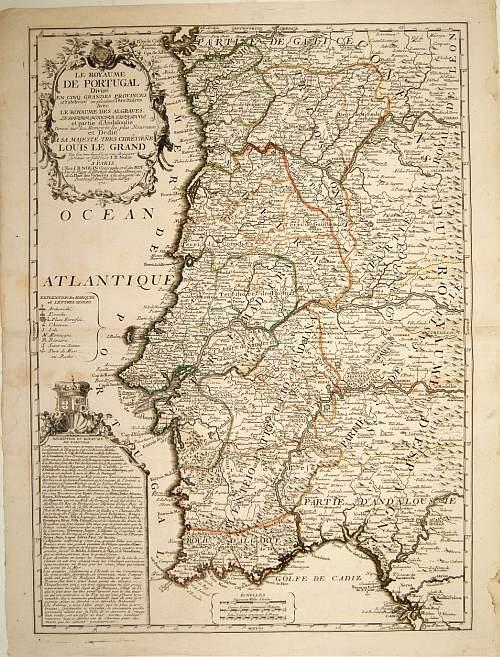 NOLIN, J.B. -  Le Royaume de Portugal divisé en cinq grandes provinces. . .