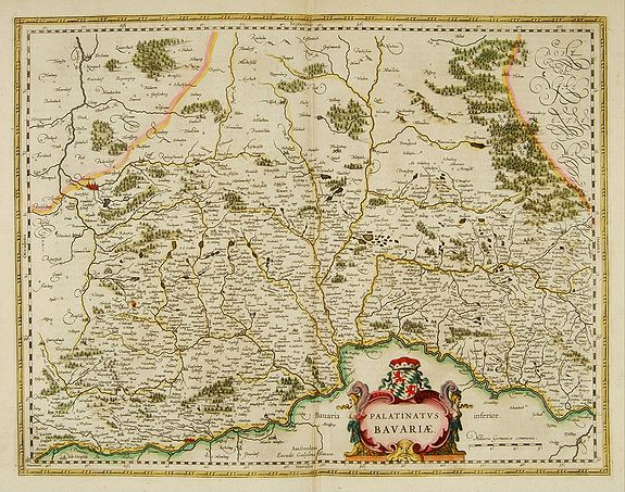 BLAEU, W.,  Palatinatus Bavariae., antique map, old maps