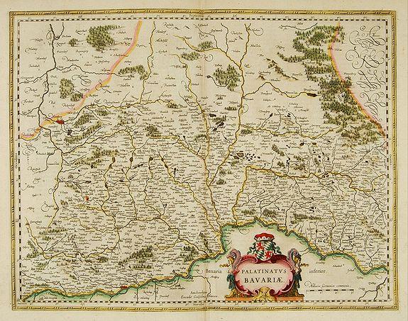 BLAEU, W. -  Palatinatus Bavariae.