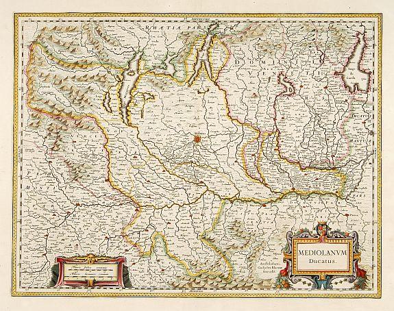 BLAEU, W. -  Mediolanum Ducatus.