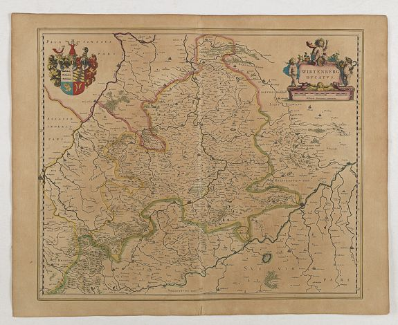 BLAEU, W.,  Wirtenberg Ducatus, antique map, old maps