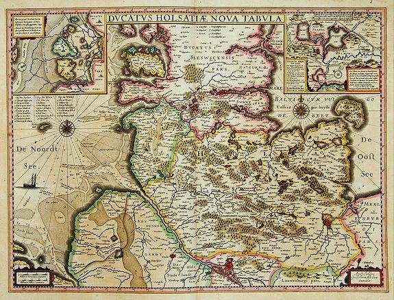 BLAEU, W. -  Ducatus Holsatiae nova tabula.