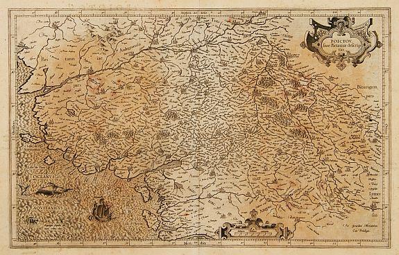 MERCATOR, G. / HONDIUS, J. -  Poictou siue Pictauiae descriptio.