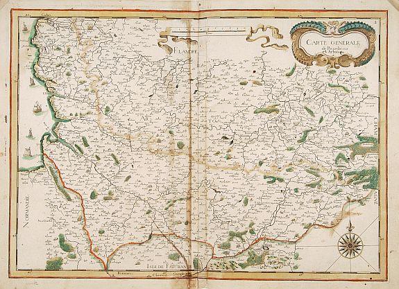 TASSIN, N. -  Carte generale de Picardie et Artois.