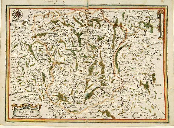 TASSIN, N. -  Carte de Nivernois.