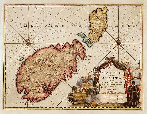AA.P.v.d. - L'ile de Malte, anciennement Melita..