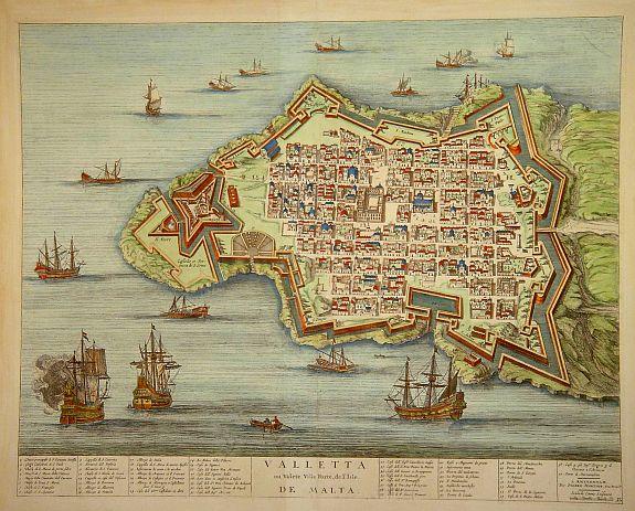 MORTIER,P. - Valletta ou Valete Ville Forte, de l'Isle de Malta.