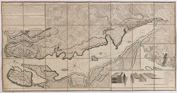 BEAURAIN. -  Plan de la Ville et du Port Mahon et du Fort St. Philippe..