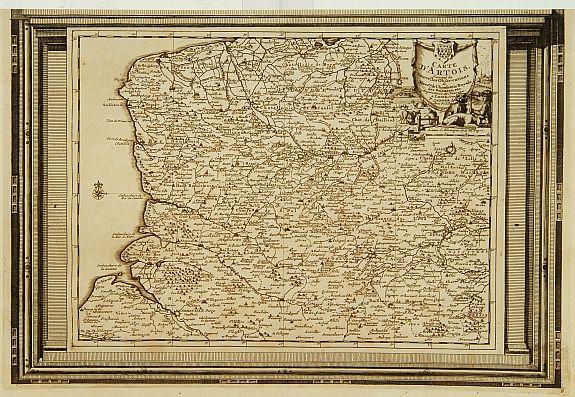 AA, P.v.d. -  Carte d'Artois, suivant les nouvelles observations..