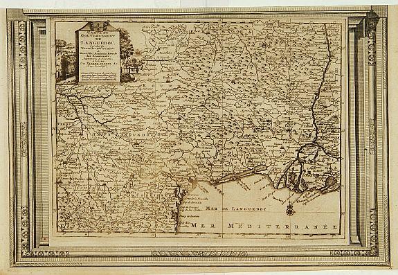 Aa, P. van der. -  Carte du Gouvernement de Languedoc, suivant les nouvelles observations..