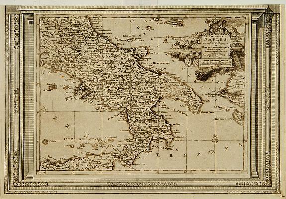 AA, P. van der -  Le Royaume de Naples, suivant les nouvelles observations..