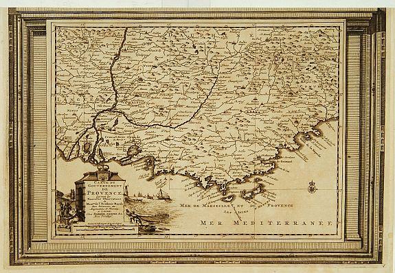 AA, P. van der -  Carte du Gouvernement de Provence, suivant les nouvelles observations...
