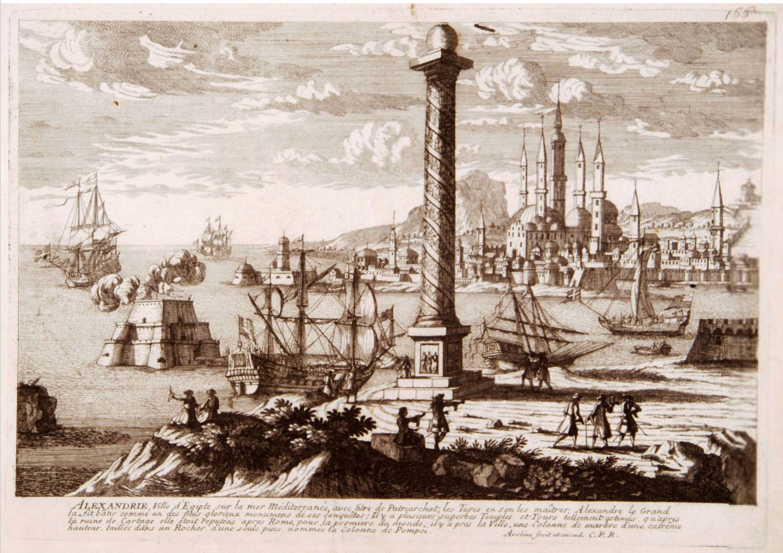AVELINE,P. -  Alexandrie Ville d'Egipte sur la mer Méditeranée..