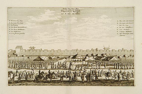 MEURS,J. -  Festin des Vice-rois pres des murs de Kanton.